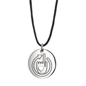 Μενταγιόν Meton Silver - Mia Ora E-Shop